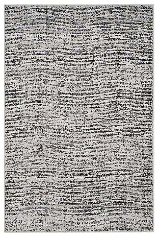 Abstract 4' x 6' Area Rug, Gray/Black, large