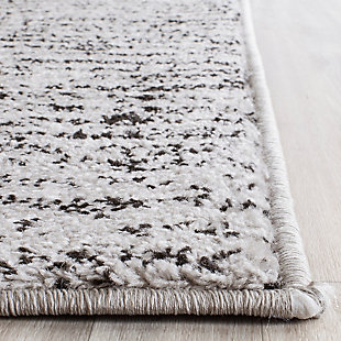 Abstract 4' x 6' Area Rug, Gray/Black, rollover