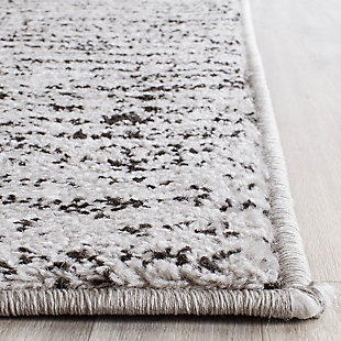 Abstract 4' x 4' Square Rug, Gray/Black, rollover