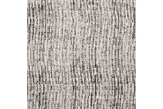 Abstract 8' x 10' Area Rug, Gray/Black, large