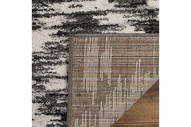 """Abstract 5'1"""" x 7'6"""" Area Rug, Gray/Black, large"""