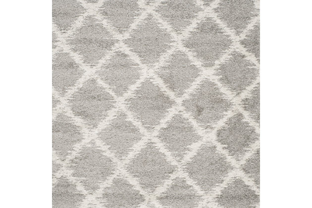 Abstract 3' x 5' Area Rug, Gray/White, large
