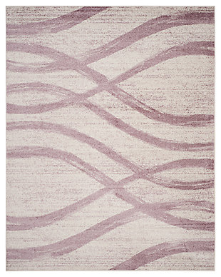 Ribbon 8' x 10' Area Rug, Gray/White, large