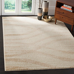 Ribbon 4' x 6' Area Rug, Beige/White, rollover