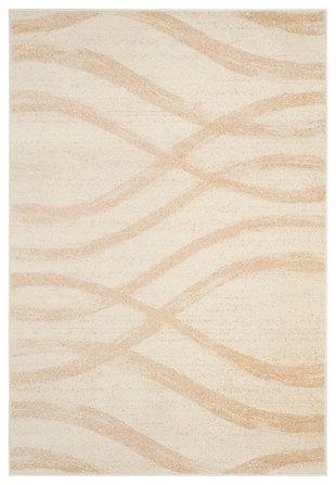 "Ribbon 5'1"" x 7'6 Area Rug, Beige/White, large"