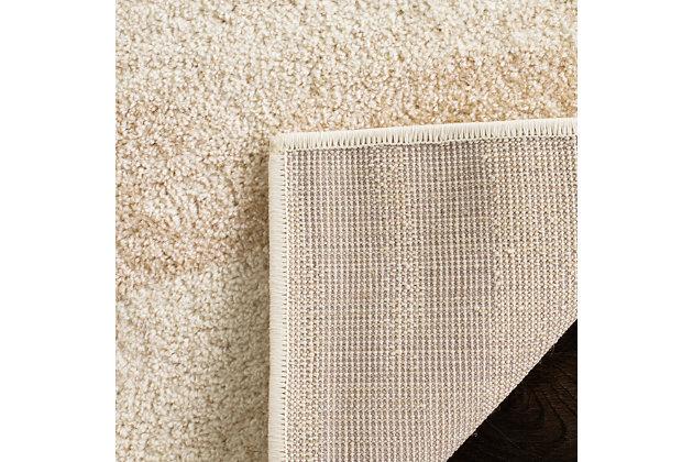 Ribbon 6' x 9' Area Rug, Beige/White, large
