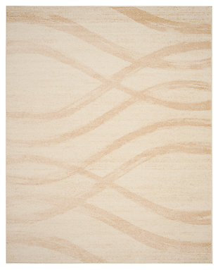 Ribbon 8' x 10' Area Rug, Beige/White, large