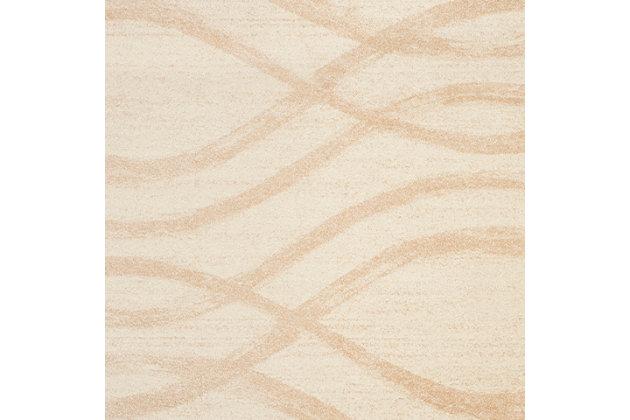 Ribbon 8' x 10' Area Rug, Beige/White, large