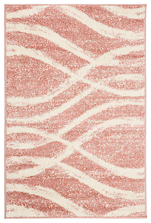 Ribbon 3' x 5' Area Rug, Red/White, rollover