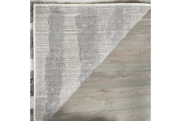 Modern 4' x 6' Area Rug, Black/White, large