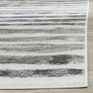 Modern 6' x 6' Square Rug, Black/White, rollover