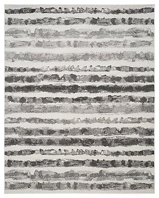 Modern 8' x 10' Area Rug, Black/White, large
