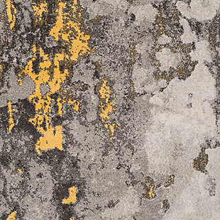 """Over Dye 5'1"""" x 7'6"""" Area Rug, Gray/Yellow, large"""