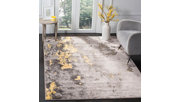 """Over Dye 5'1"""" x 7'6"""" Area Rug, Gray/Yellow, rollover"""