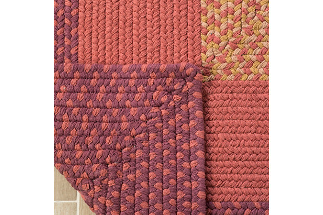 Reversible 5' x 8' Area Rug, Red/Brown, large