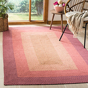 Reversible 5' x 8' Area Rug, Red/Brown, rollover