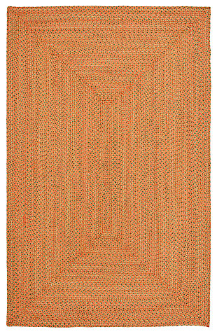 Reversible 5' x 8' Area Rug, Brown, large