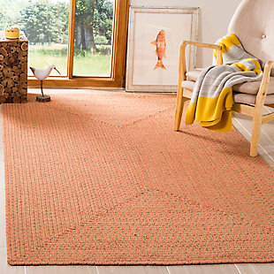 Reversible 5' x 8' Area Rug, Brown, rollover