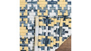 Hand Crafted 4' x 4' Square Rug, Yellow/White, rollover