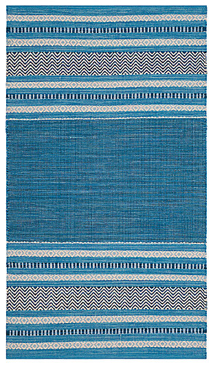 Accessory 3' x 5' Area Rug, Blue/Gray, large