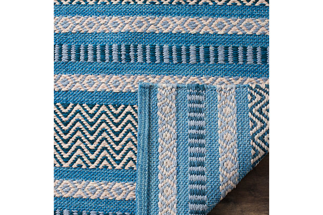 Accessory 5' x 8' Area Rug, Blue/Gray, large