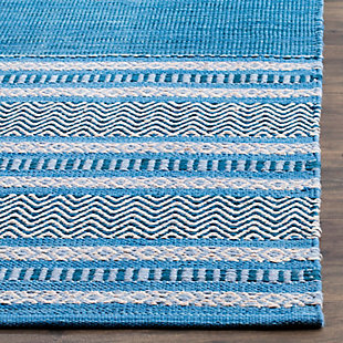 Accessory 6' x 6' Square Rug, Blue/Gray, rollover