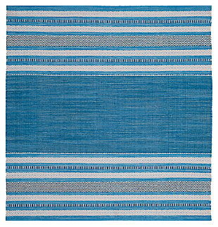 Accessory 6' x 6' Square Rug, Blue/Gray, large