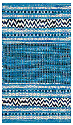 Accessory 8' x 10' Area Rug, Blue/Gray, large