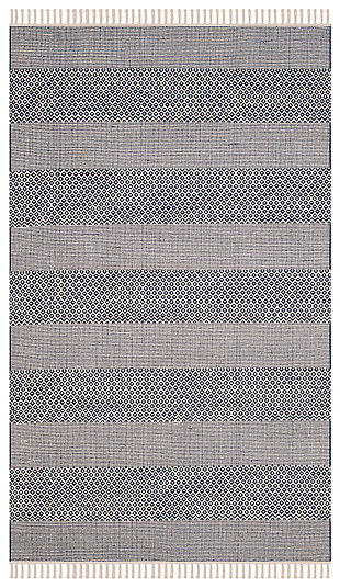 Accessory 5' x 8' Area Rug, White/Blue, rollover