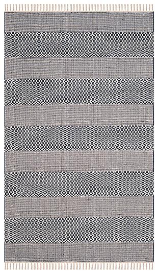 Accessory 5' x 8' Area Rug, White/Blue, large
