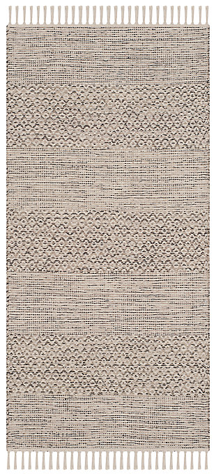 "Accessory 2'3"" x 6 Runner Rug, Gray/White, large"