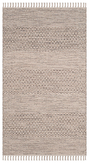 Accessory 3' x 5' Doormat, Gray/White, rollover