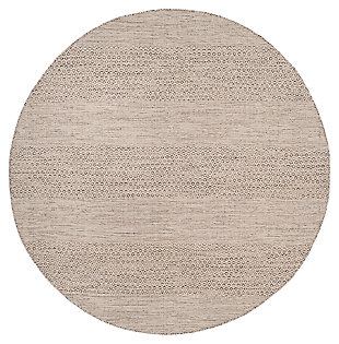 Accessory 6' x 6' Round Rug, Gray/White, large