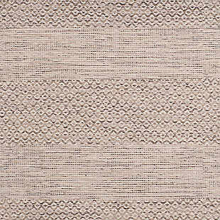 Accessory 6' x 6' Square Rug, Gray/White, large