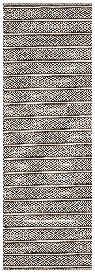 """Accessory 2'3"""" x 6 Runner Rug, Black/White, large"""