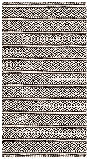Accessory 3' x 5' Doormat, Black/White, large