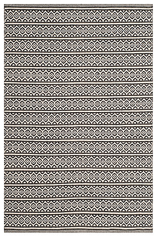 Accessory 4' x 6' Area Rug, Black/White, large