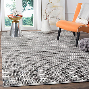 Accessory 4' x 6' Area Rug, Black/White, rollover