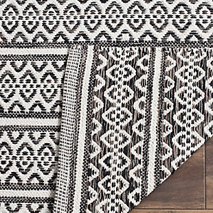 Accessory 5' x 8' Area Rug, Black/White, large