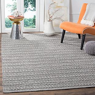 Accessory 5' x 8' Area Rug, Black/White, rollover