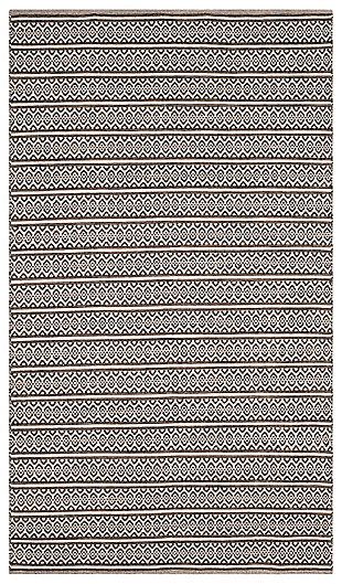 Accessory 5' x 8' Area Rug, Black/White, large