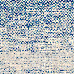 Ombre 6' x 9' Area Rug, White/Blue, large