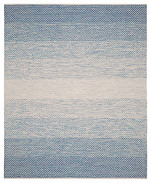 Ombre 8' x 10' Area Rug, White/Blue, large