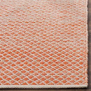 Ombre 3' x 5' Doormat, Orange/White, rollover