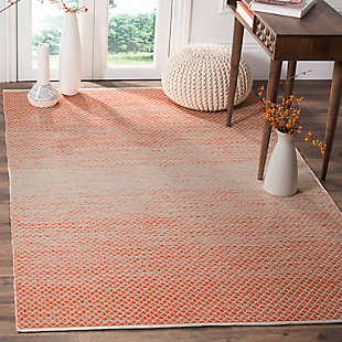 Ombre 5' x 8' Area Rug, Orange/White, rollover
