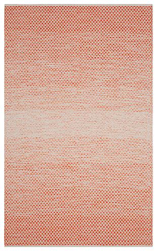 Ombre 6' x 9' Area Rug, Orange/White, large