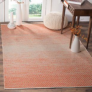 Ombre 6' x 9' Area Rug, Orange/White, rollover