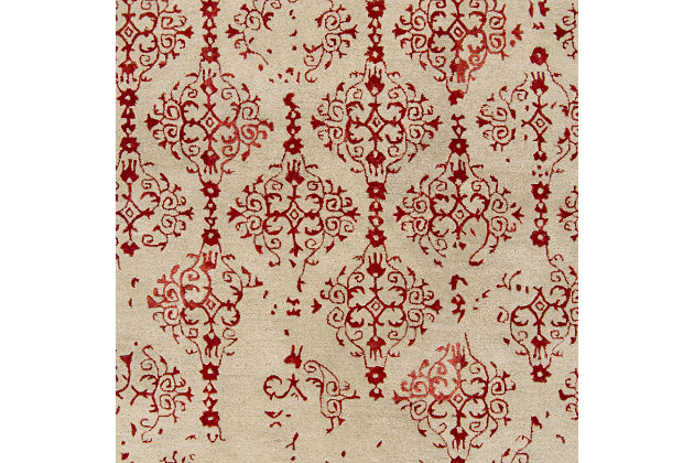Home Accents 8' x 11' Rug, Red, large
