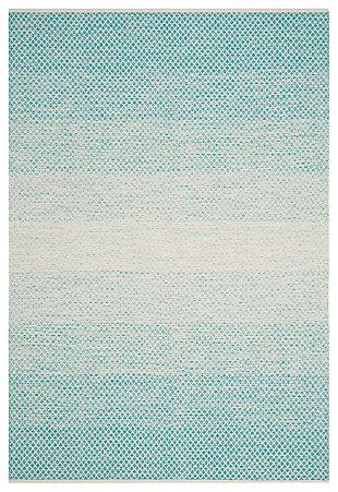 Ombre 6' x 9' Area Rug, White/Blue, rollover