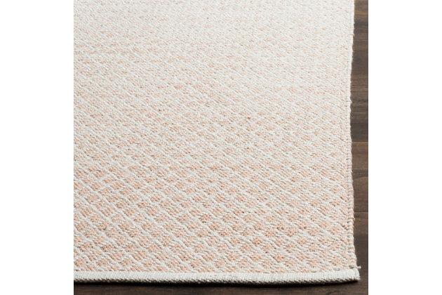 Flat Weave 6' x 9' Area Rug, Beige/White, large